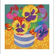 Pansies, Greeting Card