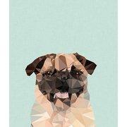 Pug, Greeting Card