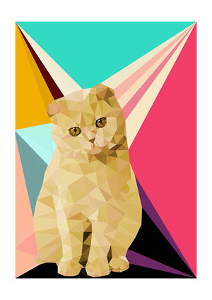 Henry The Cat, Greeting Card