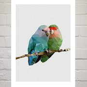 Two Love Birds, Greeting Card