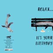 Relaxing Seal, Cards - Petite