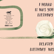 Belated Snail, Cards - Petite