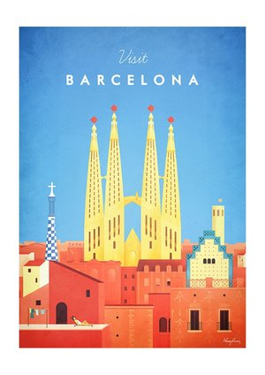 Visit Barcelona, Greeting Card