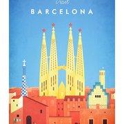 Visit Barcelona, Greeting Card