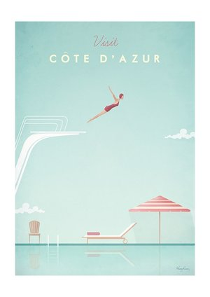 Visit Cote D'Azur, Greeting Card