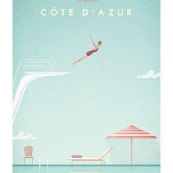 Visit Cote D'Azur, Greeting Card