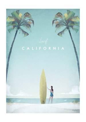 Surf California, Greeting Card
