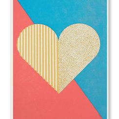 Geometric Heart, Postcard