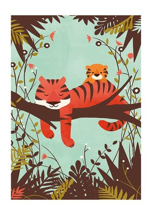 Sleeping Tiger, Print A3