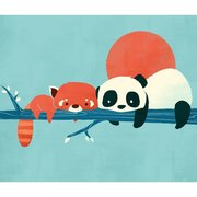 Panda and Raccoon, Print A3