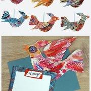 6 x Multicoloured  birds MH, Birdpack