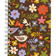 "Bird and flower bamboo 5x7"" Journal"