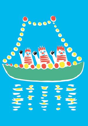 Moomin Minicard Boat