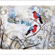 Bullfinches, Winter Cards