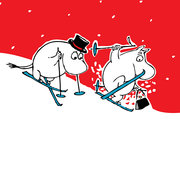Moomin Merry Christmas red