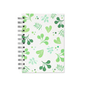 Spring Leaves, Spiral Bound Notebook, 80 sheets