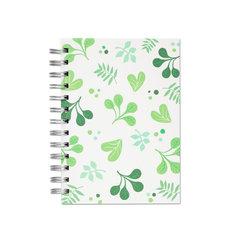 Spring Leaves, Spiralbunden Anteckningsbok, 80 sidor