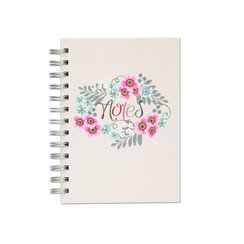 Roses in June, Spiral Bound Notebook, 80 sheets