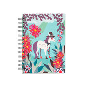 Pony In Andes, Spiral Bound Notebook, 80 sheets
