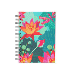 Lotus By Night, Spiral Bound Notebook, 80 sheets