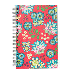 Red Lotus, Spiral Bound Notebook, 100 sheets