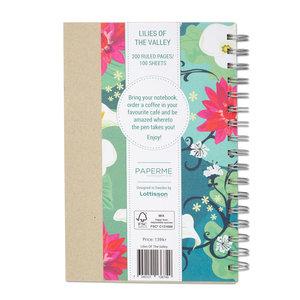 Lilies of the Valley, Spiralbunden Anteckningsbok, 100 sidor