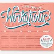Daily Dishonesty: I Am Not a Workaholic (Notepad and Mouse Pad)