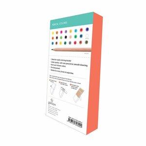 Galison Premium Colored Pencil Set, 24 pencils