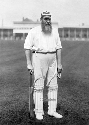 Dr WG Grace (1848-1915), regarded as the greatest cricketer of all time, Greeting card