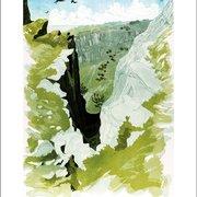 Gully Shadows, Greeting Card