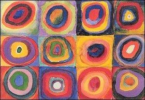 Farbstudie, Wassily Kandinsky (1866-1941), Greeting Card