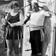 Knife throwers, Greeting card