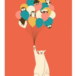 Penguin Bouquet, Print A3