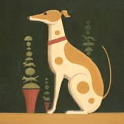 Topiary Dog, Greeting Card