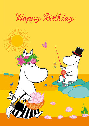 Moomin Birthday Fishing, Greeting Card