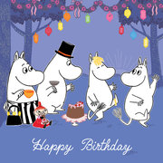Moomin Party, Square Greeting Card
