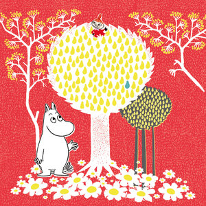 Moomin and My in the Tree, Greeting Card