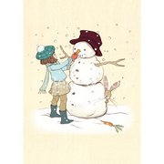Belle & the Snowman , B & B Xmas Postcards