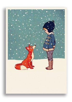 Hello Mr Fox, Belle & Boo Playtime Xmas Postcards