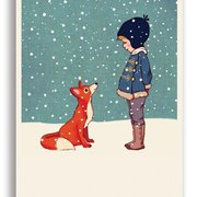 Hello Mr Fox, Belle & Boo Playtime Xmas Postcards