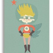 Space Hero Boy, Paper & Cloth Postcards