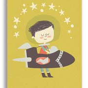 Rocket Boy, Paper & Cloth Postcards