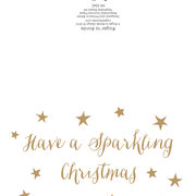 White Sparkling Christmas, 8 Mini X-mas cards, Pack