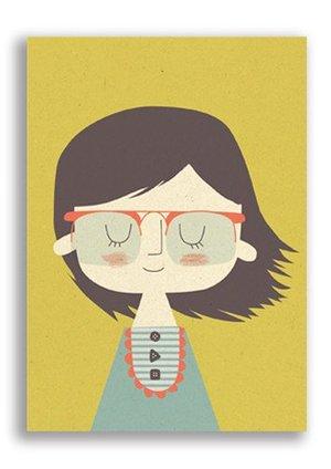 Girl, Paper & Cloth Postcards