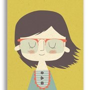 Girl, Paper & Cloth Postcards