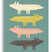 Fox Stack, Paper & Cloth Postcards