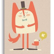 Fat Cat, Paper & Cloth Postcards