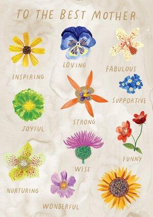 Inspiring Flowers Greeting Card