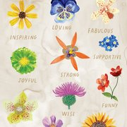 Inspiring Flowers Greeting Card