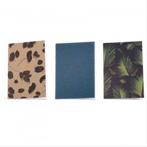 Susan Castillo - Rose Leaf / Deep Peacock / Dark Palm, 3 Pack Notebooks